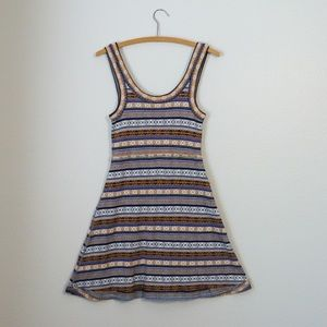 vintage free people sweater dress knit fair isle